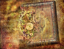 Abstract fantasy vintage pattern for background Stock Photo