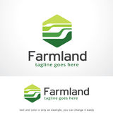 Abstract Farmland Logo Template Design Vector, Emblem, Design Concept, Creative Symbol, Icon. This design suitable for logo or icon Stock Photography