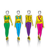 Abstract fashion girl design Royalty Free Stock Images