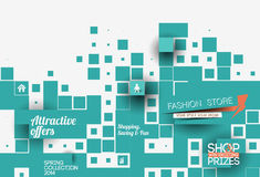 Abstract Fashion Sale Poster Template Royalty Free Stock Photography