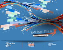 Abstract Fashion Sale Poster Royalty Free Stock Images