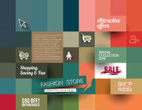 Abstract Fashion Sale Poster Template Stock Image