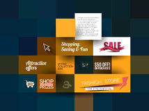 Abstract Fashion Sale Poster Template Stock Images