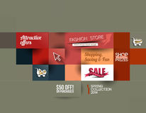 Abstract Fashion Sale Poster Royalty Free Stock Photography