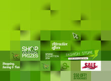 Abstract Fashion Sale Poster Template Stock Photography