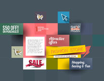 Abstract Fashion Sale Poster Stock Photos