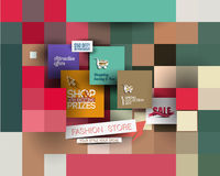 Abstract Fashion Sale Poster Template Royalty Free Stock Photo