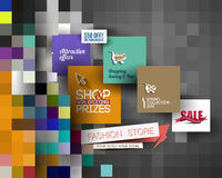 Abstract Fashion Sale Poster Template Royalty Free Stock Images