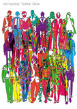 Abstract fashion show. This is abstract illustration of fashion show, It is some trends of international fashion Royalty Free Stock Photo