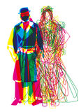Abstract fashion show man woman Royalty Free Stock Images