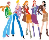 Abstract fashion womans Royalty Free Stock Photos