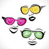 Abstract fashionable goggle wear girl Royalty Free Stock Photo