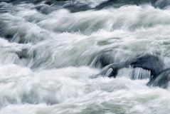Abstract of Fast Flowing Moving Water Blurred Motion Royalty Free Stock Photography