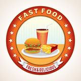 Abstract Fast Food Retro Icon Royalty Free Stock Images