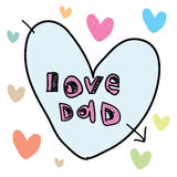 Fathers day sign - love dad Stock Photography