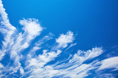Abstract feather clouds Royalty Free Stock Images