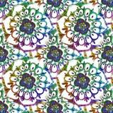 Abstract feestelijk kleurrijk mandala etnisch stammenpatroon stock illustratie