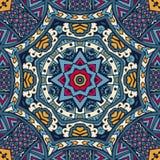 Abstract feestelijk kleurrijk mandala vector etnisch stammenpatroon Royalty-vrije Stock Fotografie