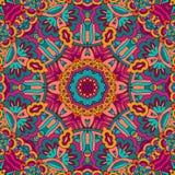 Abstract feestelijk kleurrijk mandala vector etnisch stammenpatroon royalty-vrije illustratie