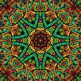 Abstract feestelijk kleurrijk mandala vector etnisch stammenpatroon Royalty-vrije Stock Afbeelding