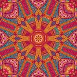 Abstract feestelijk kleurrijk vector etnisch patroon Stock Fotografie