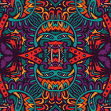 Abstract feestelijk kleurrijk vector etnisch patroon royalty-vrije illustratie