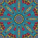 Abstract feestelijk mandala etnisch stammenpatroon Royalty-vrije Stock Foto