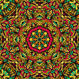 Abstract feestelijk mandala vector etnisch stammenpatroon Stock Foto