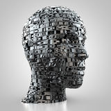 Abstract female head. 3D rendering: abstract digital female head Royalty Free Stock Images
