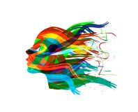 Abstract Female Head Silhouette Royalty Free Stock Photography