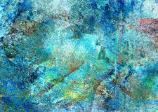 Abstract female painting. A piece of abstract painting Stock Images