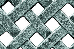 Abstract fence. Macro of a metal fence Royalty Free Stock Photo