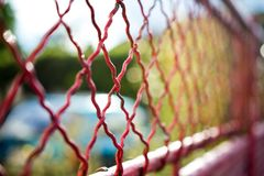 Abstract fence with blurred background Stock Photography