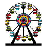 Abstract Ferris Wheel Icon. An image of a colorful ferris wheel amusement park ride Stock Photography
