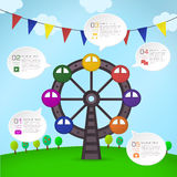 Abstract Ferris Wheel infographics. Modern vector abstract Ferris Wheel infographic elements Royalty Free Stock Photography