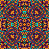 Abstract festival colorful  seamless pattern. Abstract folk ethnic colorful seamless pattern ornament Stock Image