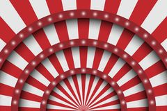 Abstract festive background. Circus stage white lines and spotlights Royalty Free Stock Photo
