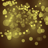 Abstract festive background with bokeh defocused lights, vector illustration. Background, bokeh, light, vector, gold, lights, illustration, christmas, design Stock Photo