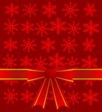 Abstract festive background  with a red bow and  mestome for tex. T,    illustration Royalty Free Stock Photo