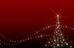 Abstract festive Christmas tree Royalty Free Stock Photo