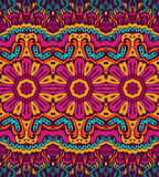 Abstract festive colorful ethnic tribal pattern. Abstract festive colorful floral vector ethnic pattern Stock Photo
