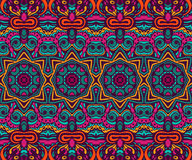Abstract festive colorful ethnic tribal pattern. Abstract festive colorful grunge vector ethnic tribal pattern Stock Photography