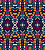 Abstract festive colorful ethnic tribal pattern. Abstract festive colorful vector mosaic print ethnic tribal pattern Royalty Free Stock Image