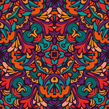 Abstract festive colorful ethnic vector pattern. Tribal ethnic bohemia fashion abstract indian, seamless wavy background Stock Photography