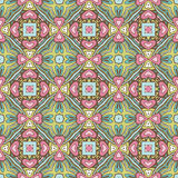 Abstract festive colorful floral vector pattern. Cute colorful floral vector  pattern vintage tiles Stock Images