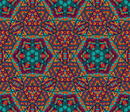 Abstract festive colorful grunge ethnic pattern. Abstract festive colorful grunge ethnic mosaic surface Royalty Free Stock Photos