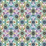 Abstract festive colorful mandala ethnic tribal pattern. On white background pattern Royalty Free Stock Photo