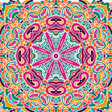 Abstract festive colorful mandala pattern Royalty Free Stock Images