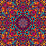 Abstract festive colorful mandala vector. Ethnic tribal pattern Royalty Free Stock Photo