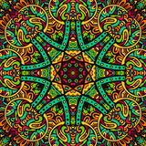 Abstract festive colorful mandala vector ethnic tribal pattern Royalty Free Stock Image